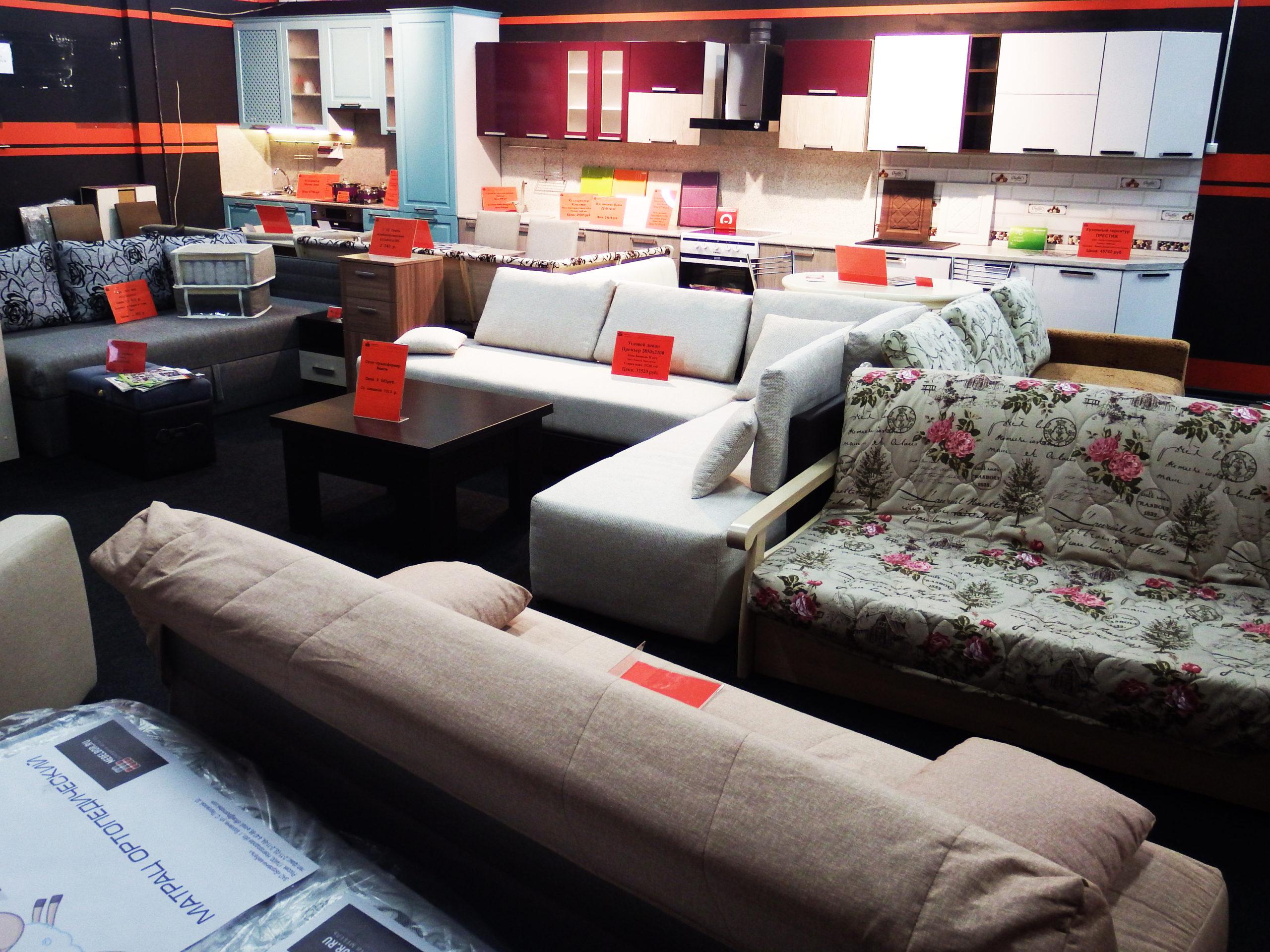 Угловые диваны в ТЦ Юго-Запад